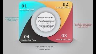 شرح عمل انفو جرافيك دائري بالفوتوشوب Design info graphic Rounded Circle photoshop cs6 II