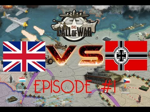 Call of War 1942 UK VS Germany, Day 1, EP1