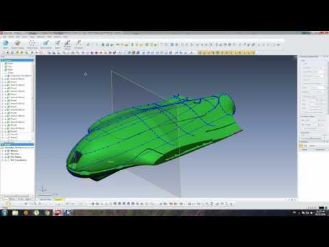 Skywalker X8 (Fuselage) - Reference Curves/Geomagic Design X Tutorial