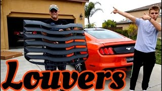installing louvers on the ecoboost mustang