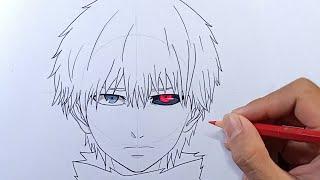 How To Draw KANEK  Ken Tokyo Ghoul - Step By Step
