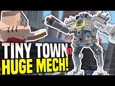 HUGE MECH VS GIANT ZOMBIE - Tiny Town VR | Zombie Apocalypse! (HTC Vive Gameplay)