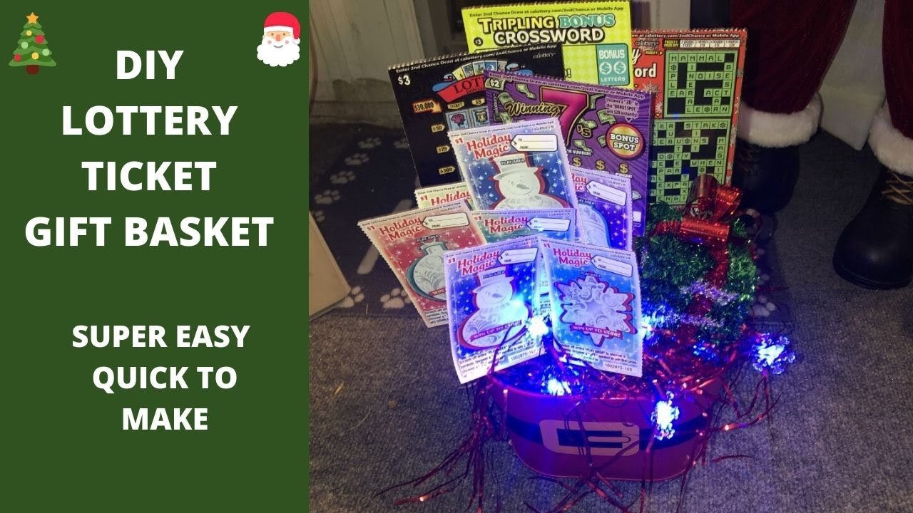Diy Easy Gift Basket Idea Using Lottery Tickets Perfect Gift For Christmas Birthdays More Youtube