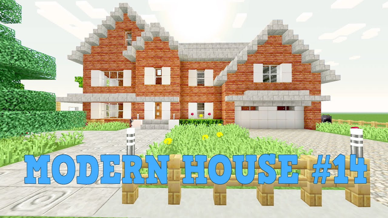 Minecraft Modern House Lets Build House 14 Part 2 YouTube