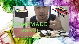 ☺♥asmr Eating Sounds - Sushi Spicy Tuna, Surimi, Cucumber, Avocado, Carrot (japanese Cuisine) ♥ ☺