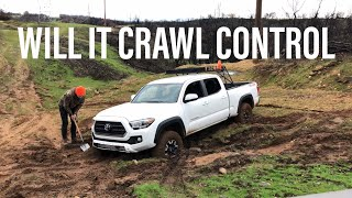 TESTING CRAWL CONTROL... in Mud.