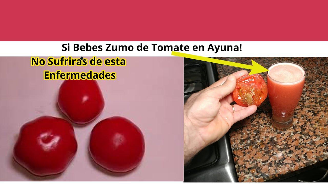 beneficios del zumo de tomate en ayunas