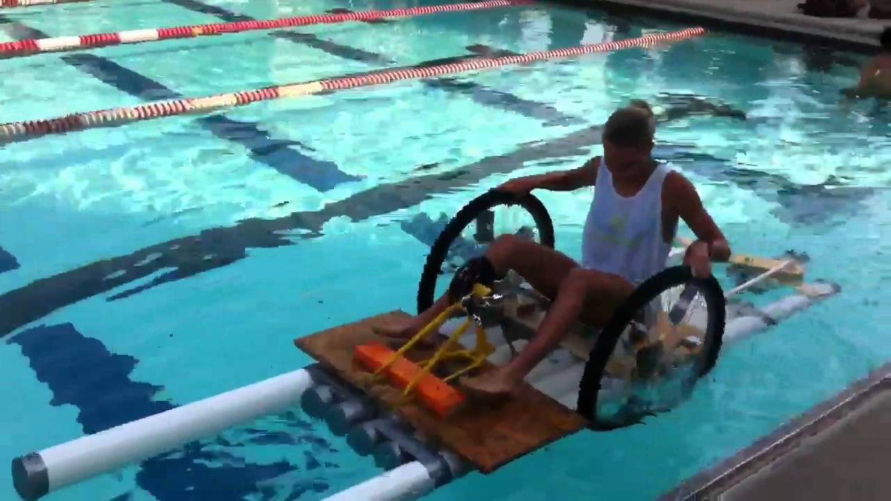 PVC Pipe Paddle Boat Duct Tape Race