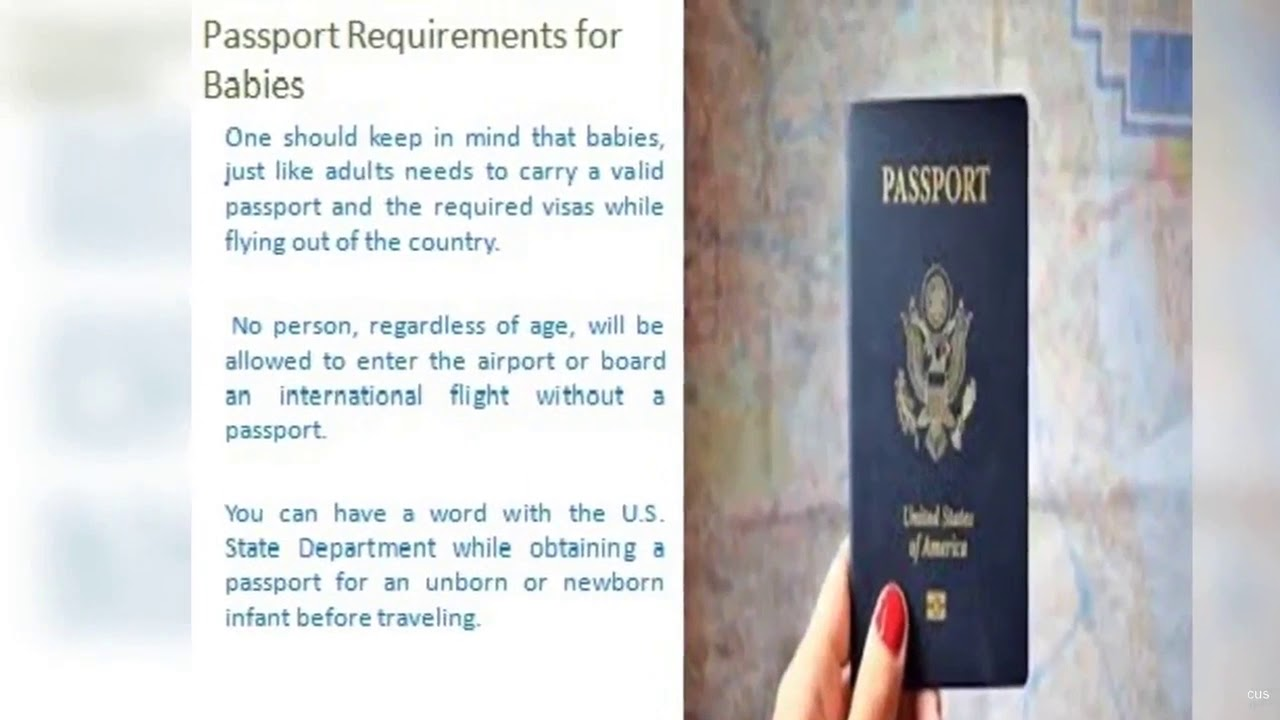What Documents are Needed for an Infant to Travel in a Flight