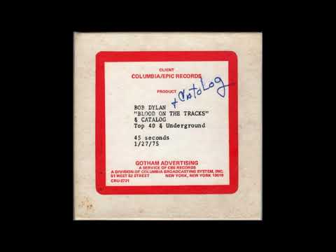 "Original Radio Commercial For Bob Dylan's ""Blood On The Tracks"" (Jan. 1975 RARE) Mp3"