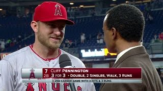 LAA@NYY: Pennington on bullpen in comeback victory