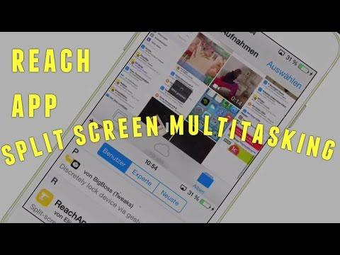 Reach App - Split Screen Multitasking für iPhone & Co. - Cydia Jailbreak Tweak