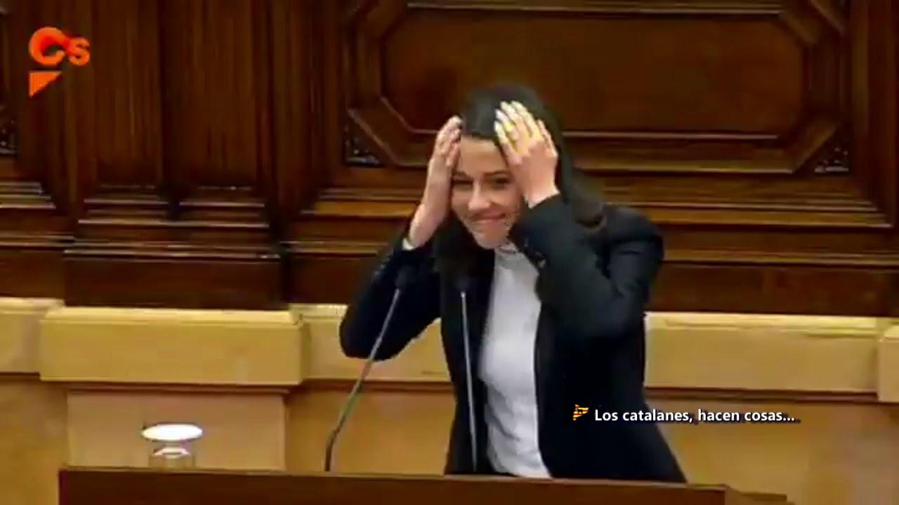 Resultado de imagen de choque entre Inés Arrimadas y el Vicepresidente del Parlament