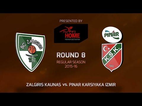 Highlights: Zalgiris Kaunas-Pinar Karsiyaka Izmir