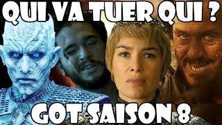 Game of Thrones saison 8 : QUI VA TUER QUI ?