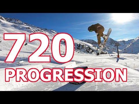 720 Snowboard Trick Progression with TJ