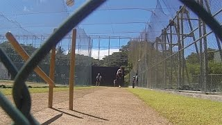 vuclip Steven Finn knocks out middle stump - GoPro footage from England nets