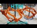 Powder Coating KTM frames!!! 2014 200 build