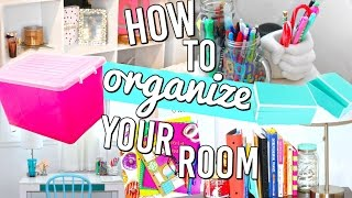 How To Organize Your Room! New Year 2016 Hacks, DIY and more!