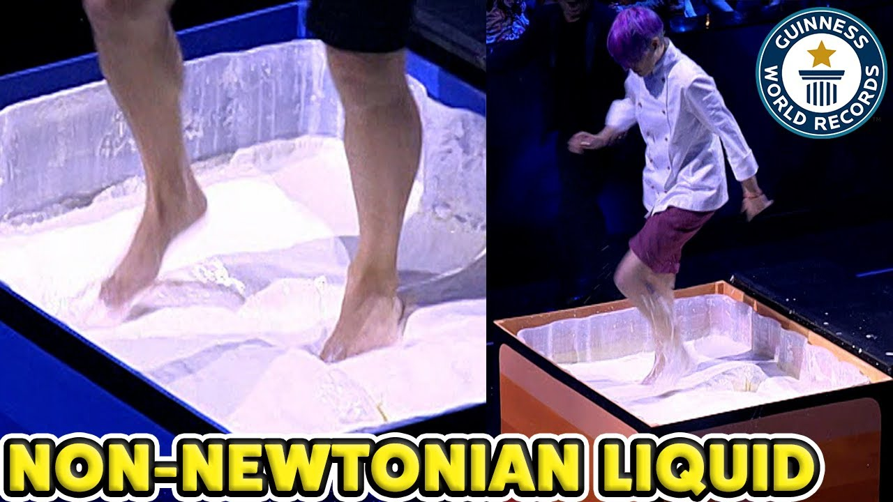 Longest Time Running On Non-Newtonian Fluid - Guinness World Records