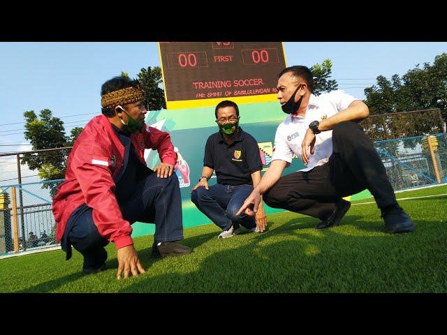 Diresmikan! Inilah Soccer Training Jalak Harupat yang Berumput ala Santiago Bernabeu Real Madrid