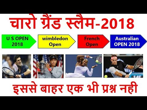 Grand Slam 2018 | चारो ग्रैंड स्लैम | us open | french open| australian open | wibledon | gk current