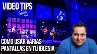 Como usar varias pantallas en tu iglesia usando ProPresenter
