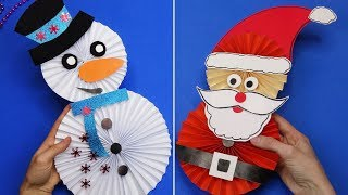 5 diy christmas | Christmas crafts for kids | 5 minute crafts christmas