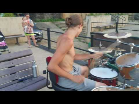 Drum solo at Brownsville, PA waterfront