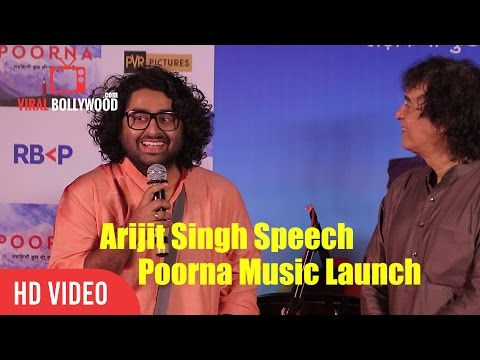 Arijit Singh Speech At Music launch of Poorna With Ustad Zakir Hussain