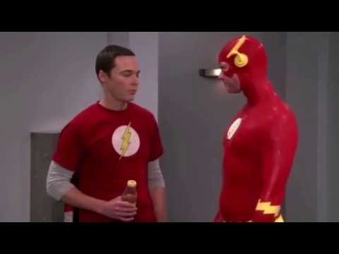 Sheldon and the Flash drinking energy drinks [spanish dub]