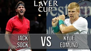 Jack Sock Vs Kyle Edmund - Laver Cup 2018 (Highlights HD)