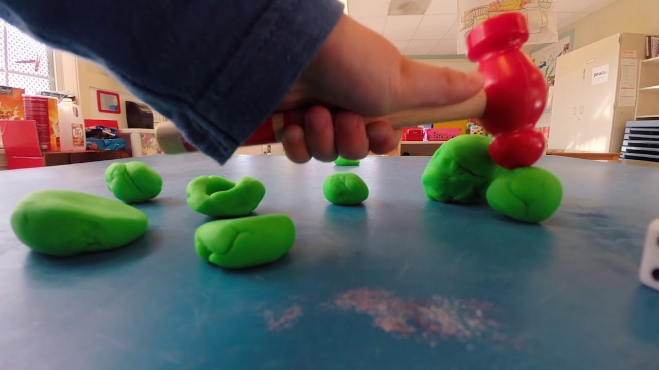 Hammer + Play Dough = Math Skill-Builder! - YouTube