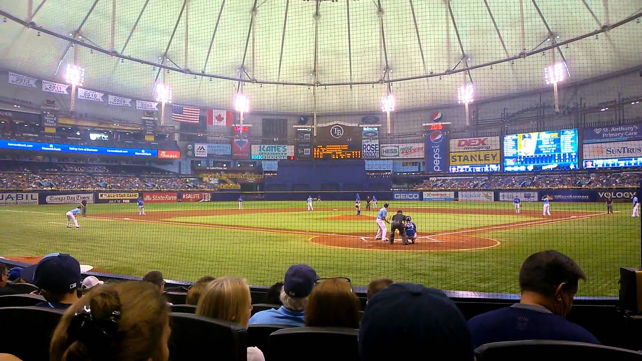 Breakdown Of The Tropicana Field Seating Chart Tampa Bay Rays