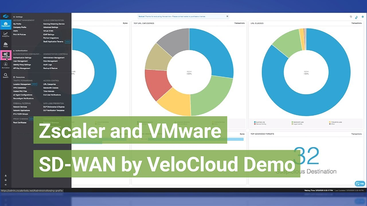 Zscaler And Vmware Sd Wan By Velocloud Demo Youtube
