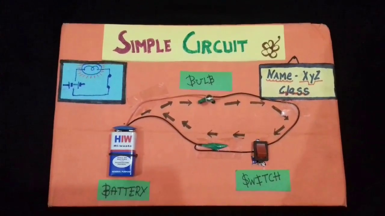 How To Make Simple Circuit Diy Working Model Of Youtube We Can Construct A With Battery And Bulb Produce