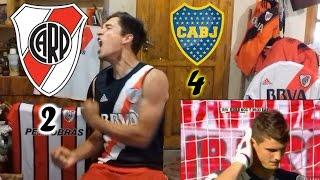RIVER 2 - Boca 4 - Reacciones de un Hincha - Fecha 13
