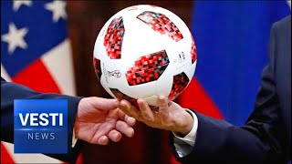 A Trojan Soccer Ball! Dastardly Russians Hide Surveillance Chip in Putin's World Cup Gift to Trump!