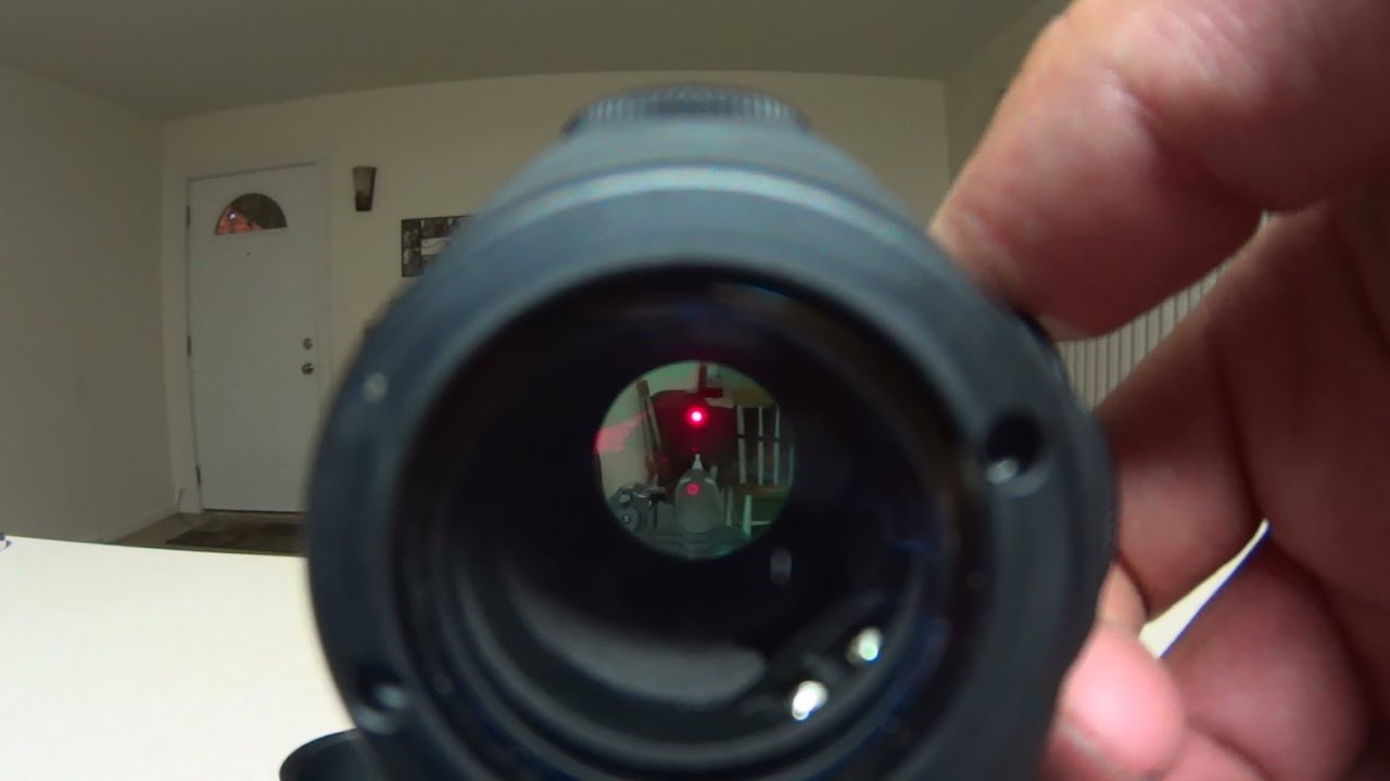 Looking Through An Aimpoint Micro H 1 4moa Hd Youtube