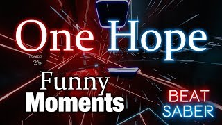 """Beat Saber Boi Attempts to Finish """"One Hope"""" on Expert -Funny Moments"""