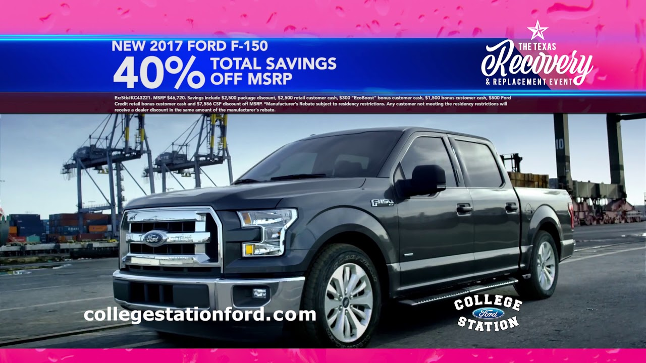 College Station Ford >> College Station Ford The Texas Recovery Replacement Event Sept 2017