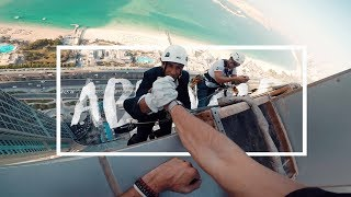 Throwback - Repelling down a building in Abu Dhabi