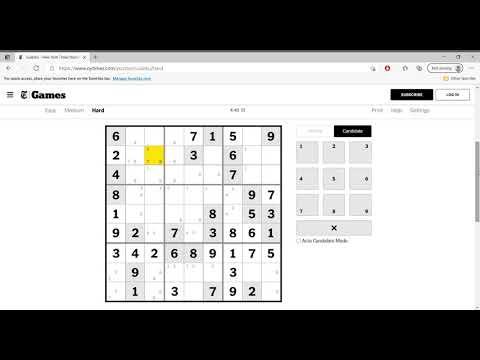 Hard Sudoku New York Times April 20
