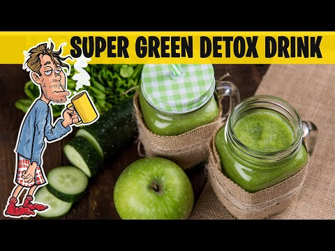 How to make a detox drink - Green Juice Recipe for Detox (Also great hangover cure)