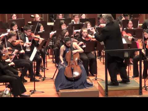 Haley Kwoun with NEC Youth Symphony Schumann Cello Concerto in A minor 2018