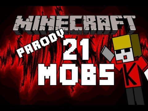 ♪ Minecraft  21 Mobs A Minecraft Parody of Green Days 21 Guns ♪