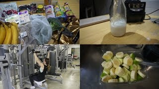 VLOG getting back on the wagon, food haul and making soy milk