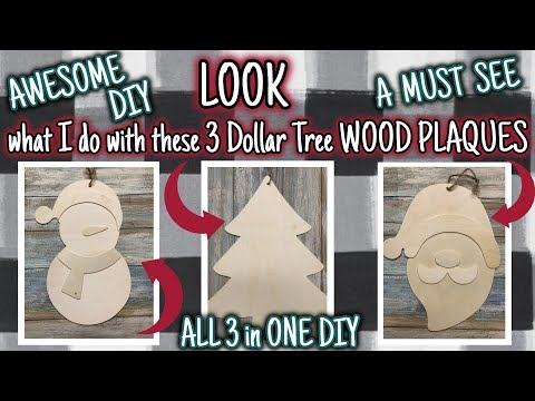 LOOK what I do with these 3 DOLLAR TREE WOOD PLAQUES | An AWESOME MUST SEE DIY