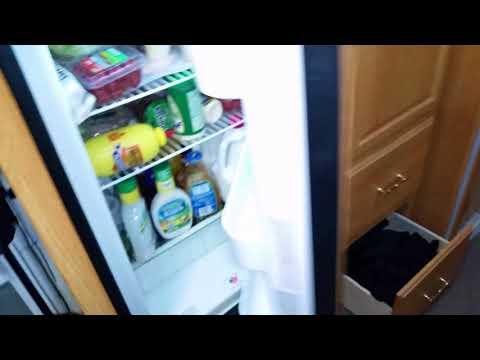 RV Repair: Norcold refrigerator door hinge broken off repair