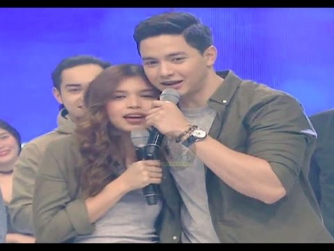 Eat Bulaga January 12 2017 Alden & Maine exchanges sweet personal messages to each other on Live TV